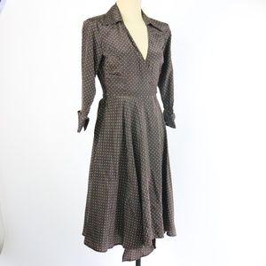 Zara Brown Polka Dot Wrap Dress - Q40